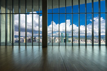 Empty Window With Panoramic Cityscape