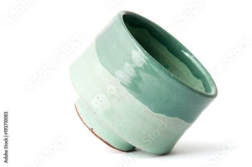 green pottery cup Fototapeta