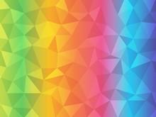Rainbow Abstract Polygonal Bac...
