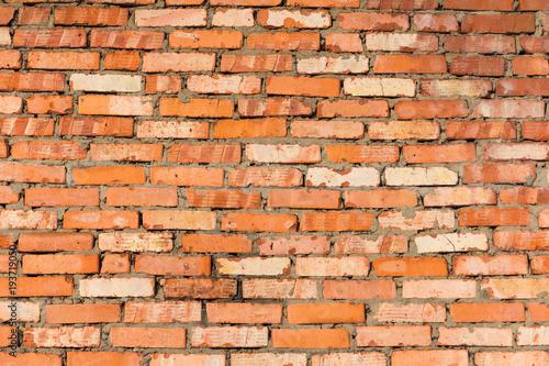 Foto op Aluminium Wand red brick wall