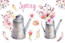 Watercolor Vintage Gardening T...
