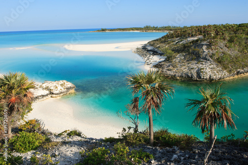 A small paradise beach located on Shroud Cay in the Bahamas Wallpaper Mural