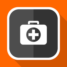 First Aid Vector Icon. Flat De...