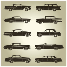 10 Vector Icons Of Vintage Veh...