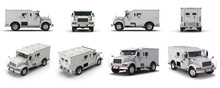 Modern Bank Armored Car Render...