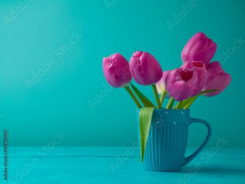 Deurstickers Tulp Tulip flowers bouquet
