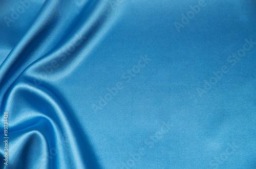 Blue satin, silk, texture background Canvas Print