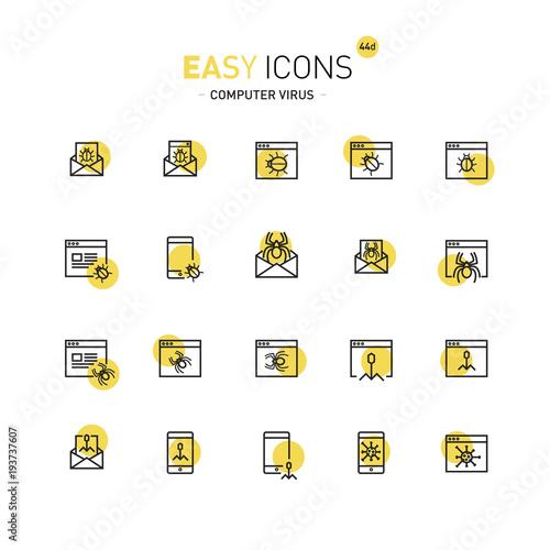 Fotografie, Obraz  Easy icons 44a Computer security