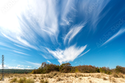 Fotografie, Obraz  Seascape with dramatic blue sky and clouds