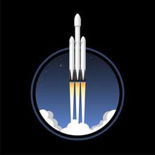 USA Rocket Carrier. Icon Vecto...