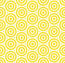 Summer Background Circle Stripe Pattern Seamless Yellow And White.
