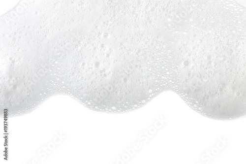 Valokuva  Foam bubbles abstract white background. Detergent