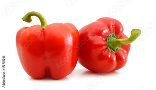 red pepper isolated on white background Slika na platnu
