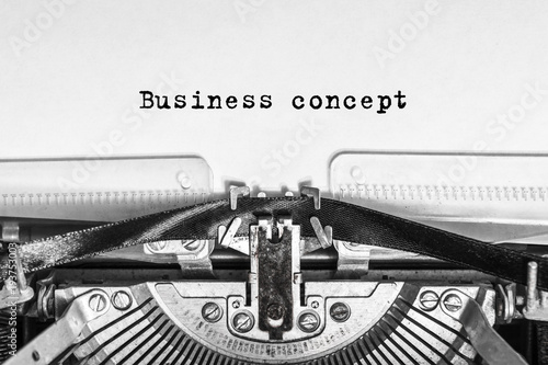 Cuadros en Lienzo Business concept text typed on an old typewriter