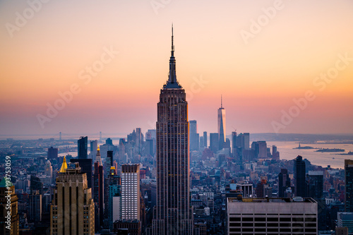 Photo sur Toile New York Panorama of the Manhattan skyline