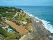 Luxury homes on pacific ocean coast line