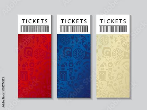 World cup soccer international championship patterns set, tickets ...