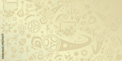 World Cup Soccer Championship Beige Pattern, Football Abstract Dynamic  Shapes, Soccer International Competition Award