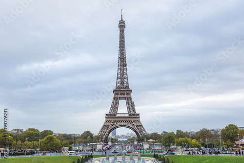 Foto op Aluminium Parijs Eiffel tower in Paris - France.