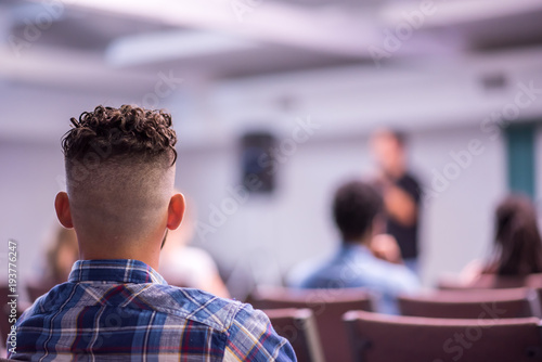 Fotografie, Obraz  Listening to Sermon at Church on Sabbath