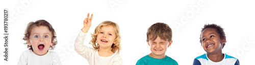 Four children making different expressions Fototapet