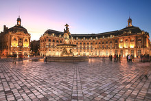 Place De La Bourse In Bordeaux...