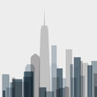 skyline building abstract poster