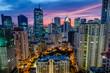 Sunset over Makati Skyline