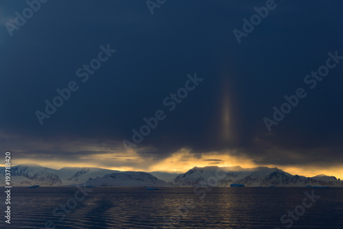 Foto op Canvas Antarctica Sunset in Antarctica