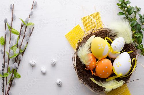 Plakat Szczęśliwy Easter dekoraci tło