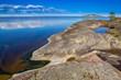 Finland. Lake Shore. Rocky shore. The nature of Finland.