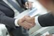 closeup.handshake of two businessmen