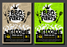 BBQ Party Food Poster. Barbecu...