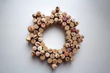 Wine Corks Wreath Abstract Com...