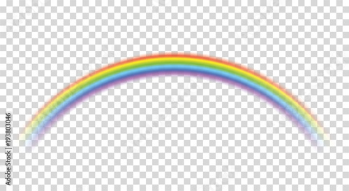 Rainbow icon realistic. Perfect icon isolated on transparent background - stock vector.
