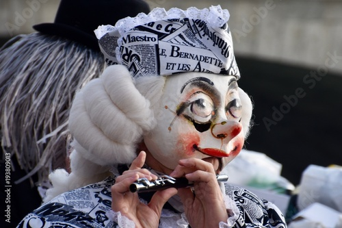 A colourful parade of carnival masks in the city of Basel, Switzerland, revives a centuries old tradition of masked and costumed performances.