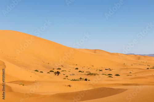 Staande foto Zandwoestijn Dunes of Erg Chebbi, Sahara Desert Morocco