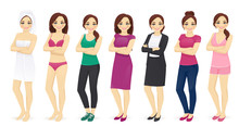 Woman Day In Different Clothes...