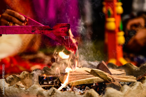 Yagya a ritual in hinduism Wallpaper Mural