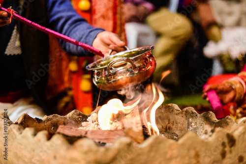 Photo  Yagya a ritual in hinduism