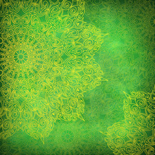 Green Background With Yellow L...