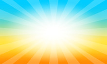 Background With Sunrise Shining. Vector Graphic Illustration.