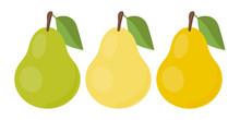 Vector Pear. Set Icons. Vector...