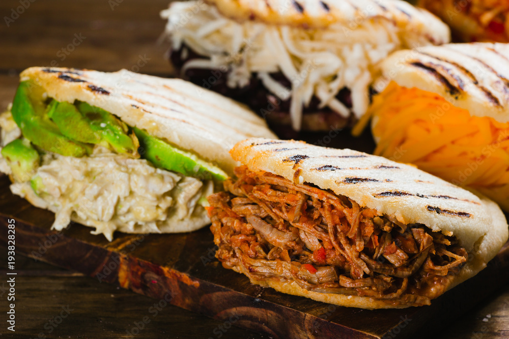 Fototapety, obrazy: Different types of arepas, the typical Venezuelan food