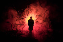 Strange Silhouette In A Dark S...