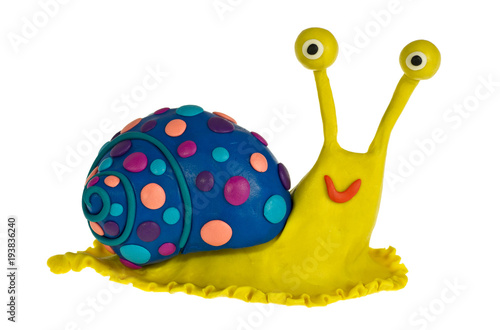 Funny plasticine Snail
