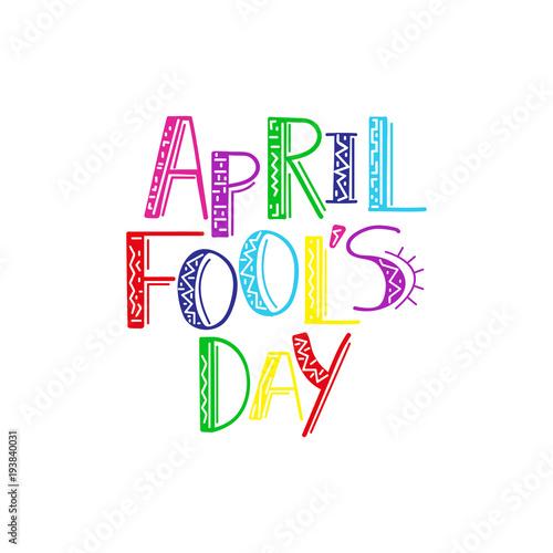 Fotografija  Illustration Celebrating April Fools' Day