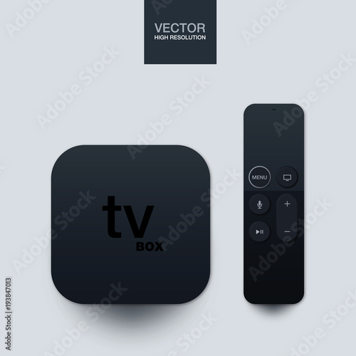 TV Box, smart tv, tv player box device with remote controller Canvas Print
