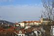 вид на крыши Праги с вышеграда