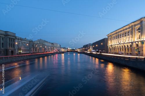 Keuken foto achterwand Noord Europa The canal at night in St. Petersburg